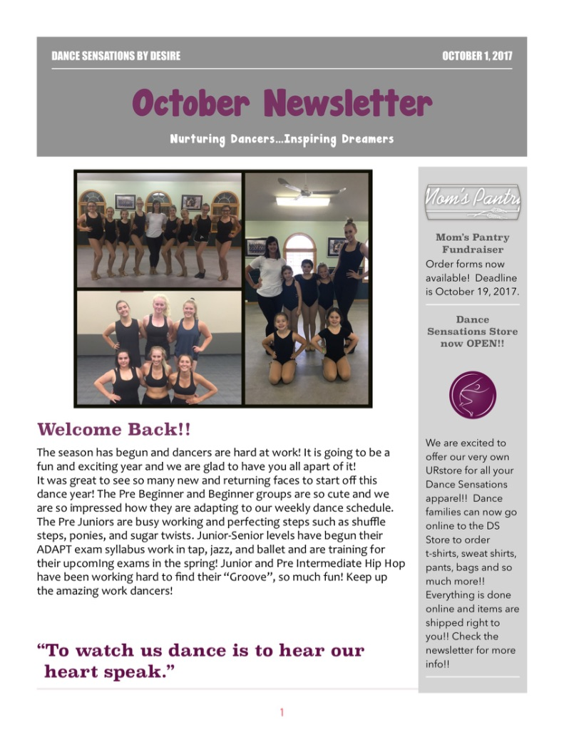 October Newsletter PG1